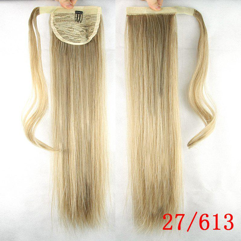 Fashion Elegant Silky Straight Long Heat Resistant Synthetic Ponytail For Women - /