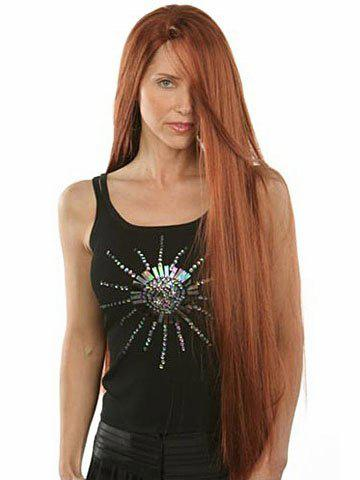 Фото Classical Long Hairstyle Side Bang Natural Straight Synthetic Hair Charming Women