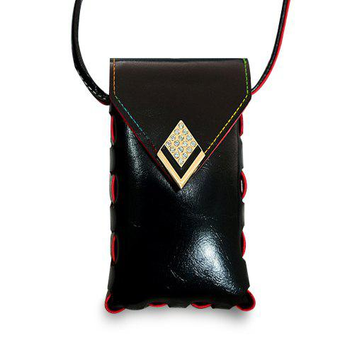 Sweet Stitching and Rhinestones Design Crossbody Bag For Women