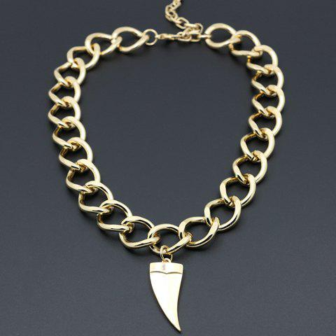 Delicate Horn Shape Pendant Necklace For WomenJewelry<br><br><br>Color: GOLDEN
