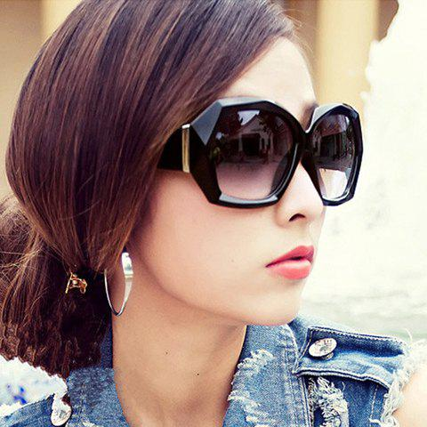 Stylish Full Frame Anti-UV Women's Sunglasses - BLACK