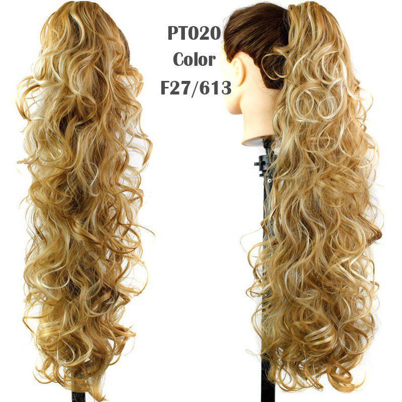 Graceful Heat Resistant Synthetic StylishLong Curly Capless Ponytail For Women - F2 / 3