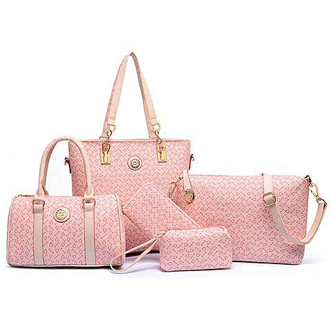 Stylish PU Leather and Arrow Print Design Shoulder Bag For Women