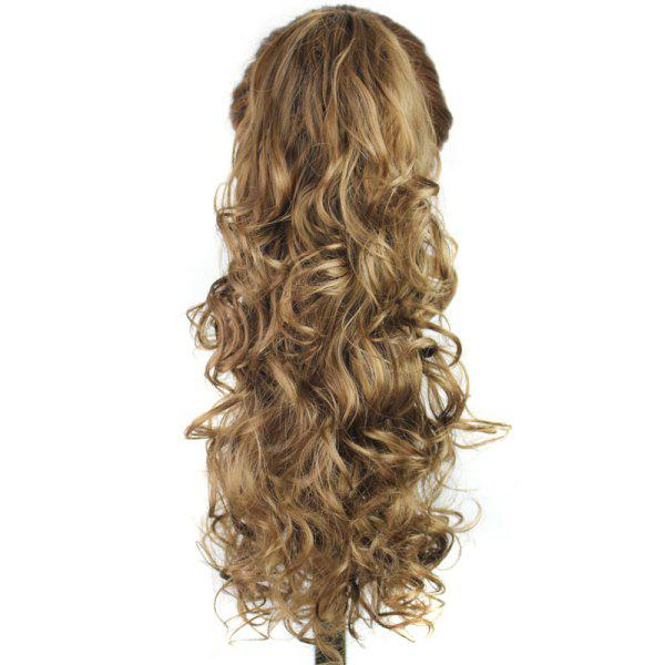 Fashion Curly Charming Long Capless Graceful Heat Resistant Fiber Ponytail For Women
