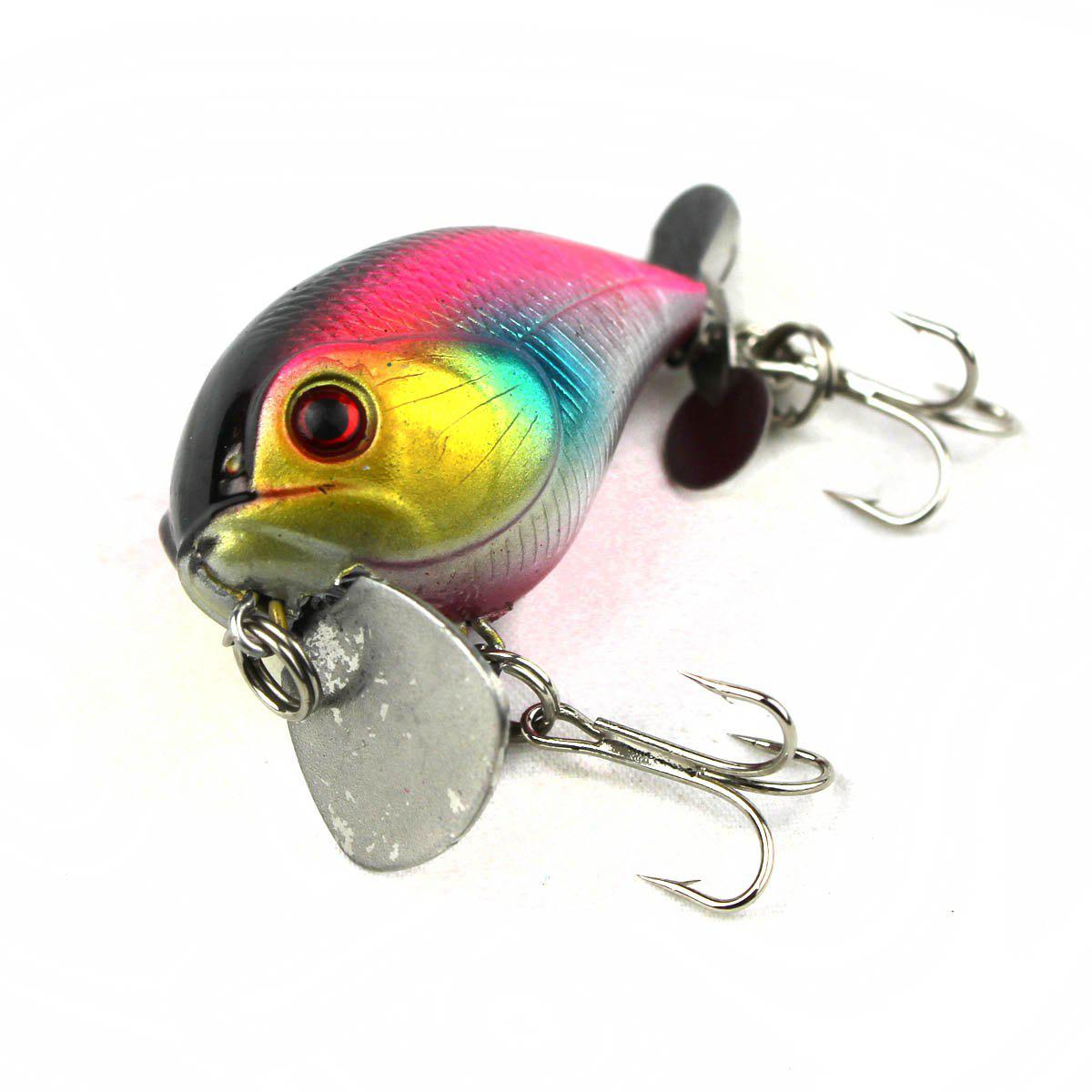 Chubby Hard Fishing Bait with Intron Stainless Steel Ball, As the picture