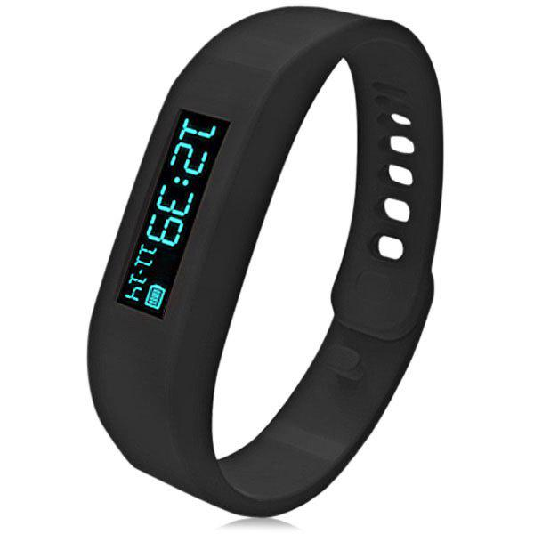 SH01 Intelligent OLED Motion Healthy Bracelet Bluetooth 2.1 Watch with Pedometer / Sleep Monitoring / Calorie Counter Compatible with Android - BLACK