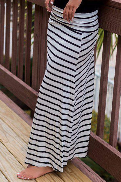 casual a line s striped maxi skirt white l in