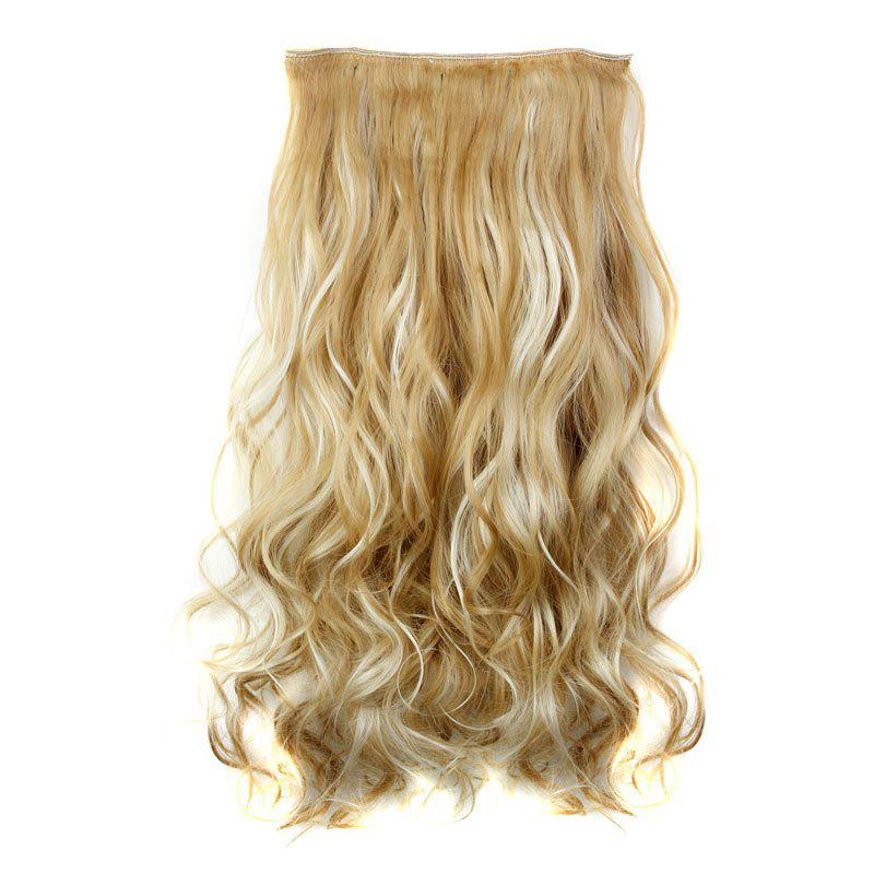 Trendy Heat Resistant Synthetic 23 Inch Clip-In Long Curly Women's Hair Extension - H
