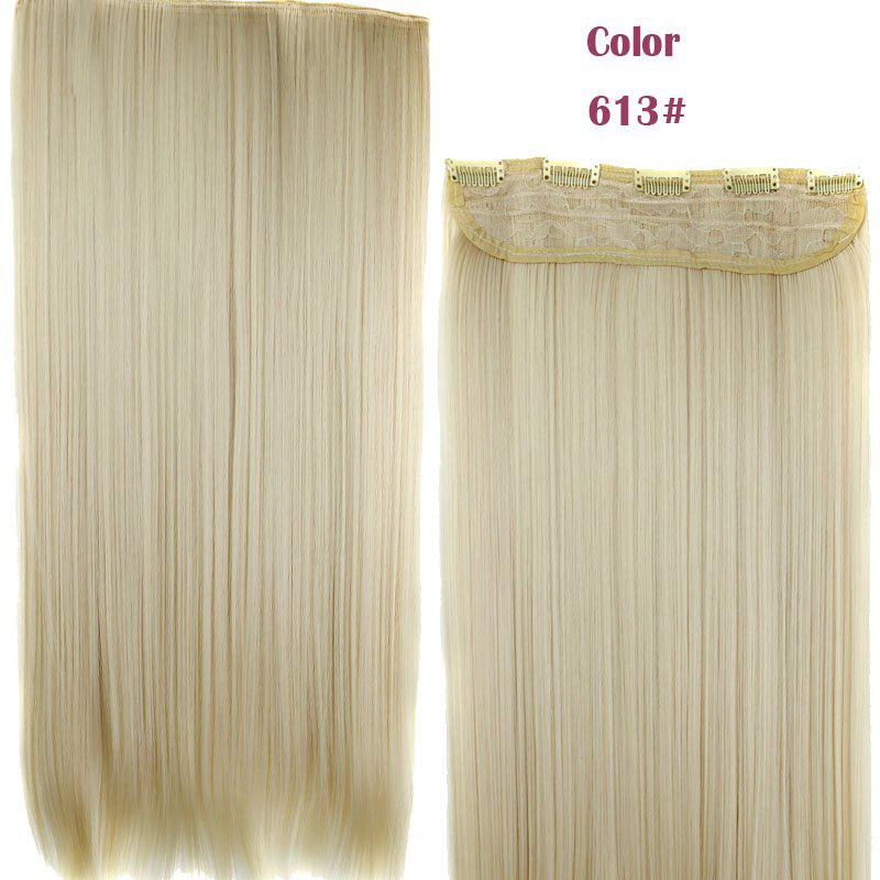 Stylish Heat Resistant Synthetic 23 Inch Clip-In Long Straight Women's Hair Extension -