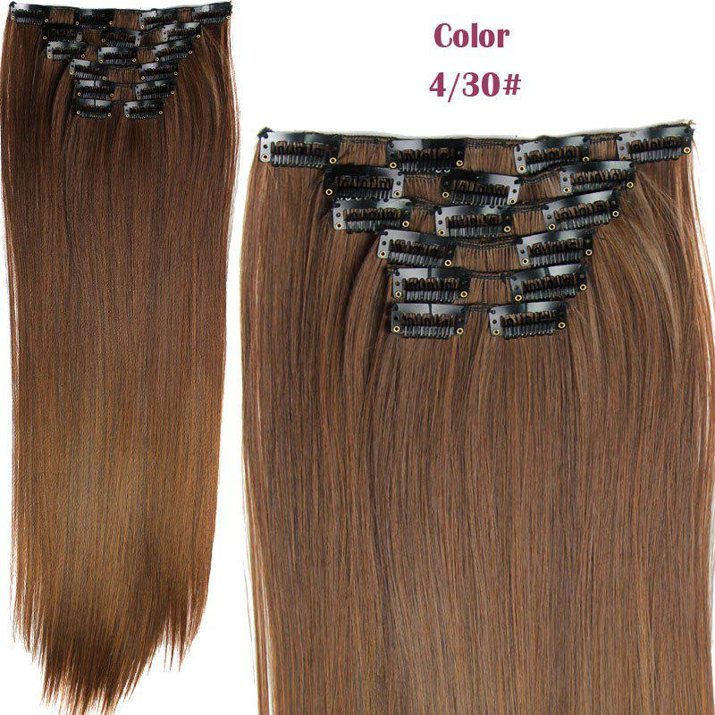 2018 Stylish Heat Resistant Synthetic Clip In Long Straight Womens