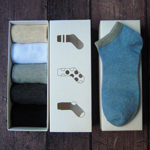 5 Pairs of Stylish Simple Design Socks For Men - RANDOM COLOR