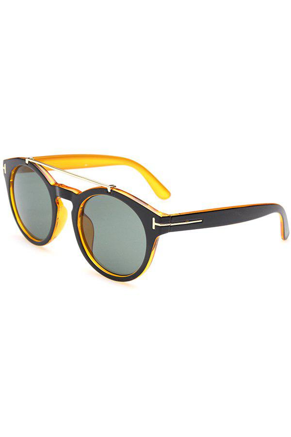Chic Alloy Splice Color Block Sunglasses For WomenAccessories<br><br><br>Color: YELLOW