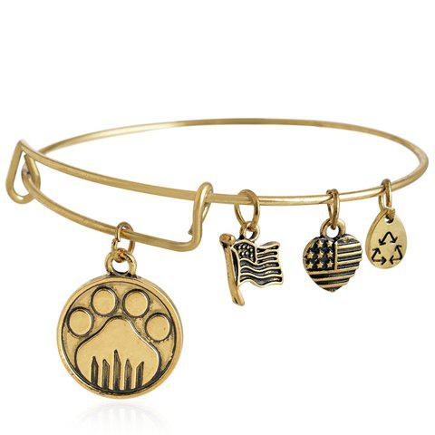 Flag Heart Bracelet - GOLDEN
