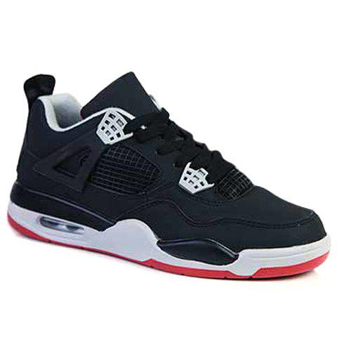 Fashion Round Toe and Color Block Design Athletic Shoes For Men - RED/BLACK 44