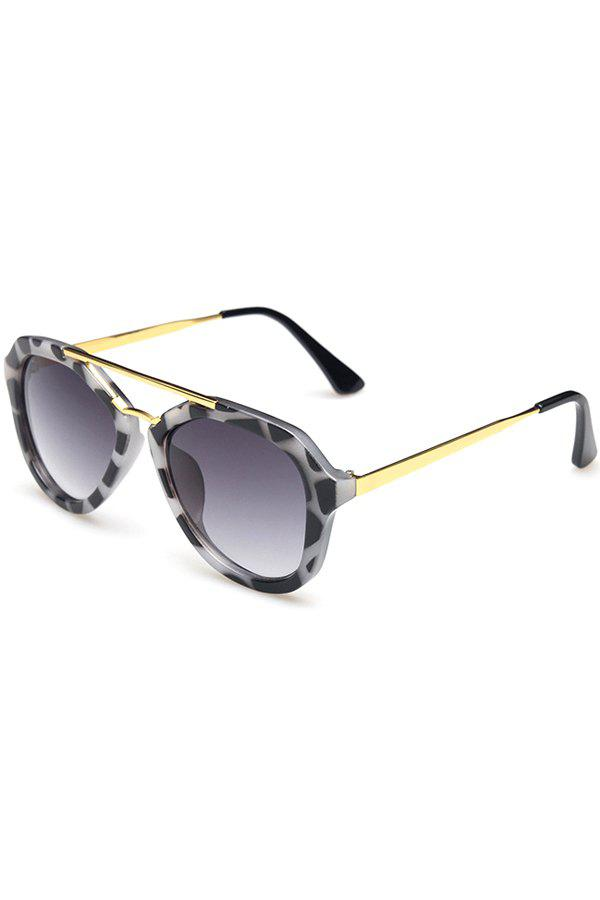Chic Alloy Dappled Frame Sunglasses For Women - BLACK