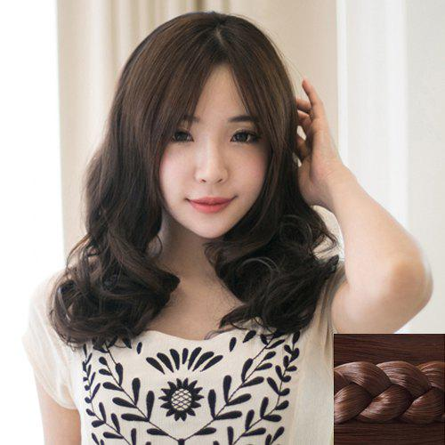 Stylish Synthetic Fluffy Long Wavy Centre Parting Ladylike Women's Capless Wig