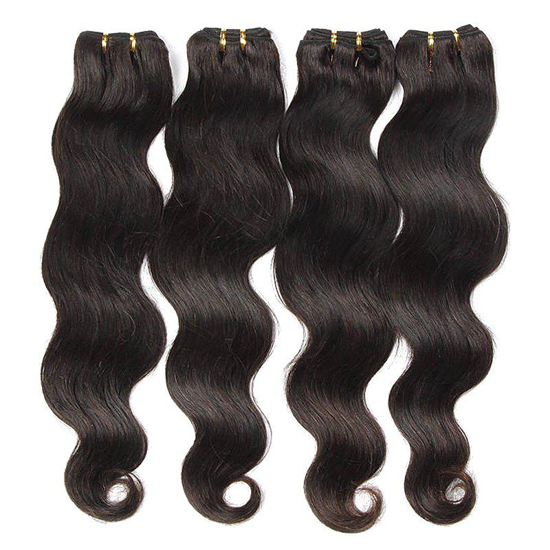 Natural Black Body Wavy Glossy 6A Unprocessed Women's Brazilian Virgin Hair Extension 8-30 Inch - BLACK 30INCH