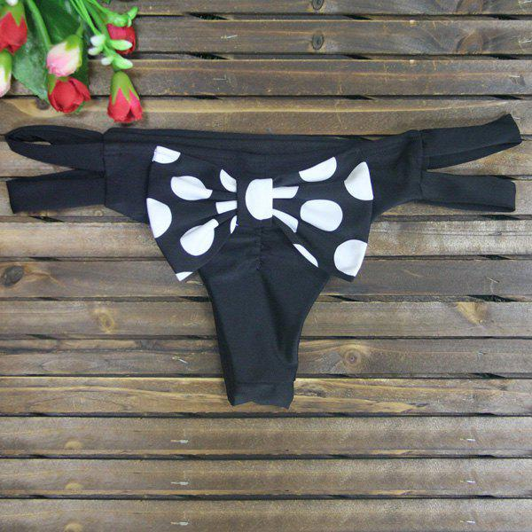 Sexy Polka Dot Print Bowknot Embellished Briefs For Women