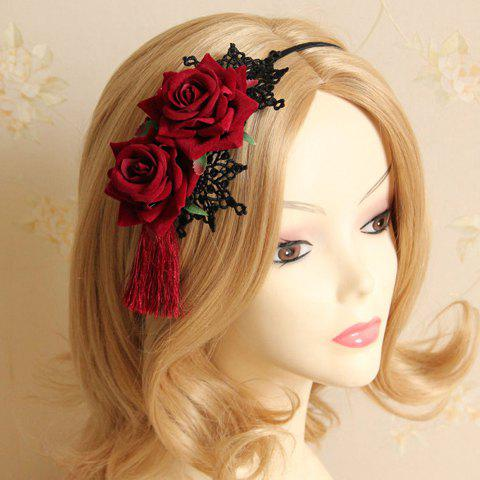 Classic Lace Flower Leaf Hairband For Women