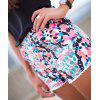 Trendy Style Full Print Elastic Waist Shorts For Women - COLORMIX M