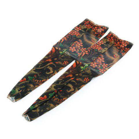 Anti-UV Vivid Tattoo Arm Sleeves Unisex for Cycling Activities - AS THE PICTURE