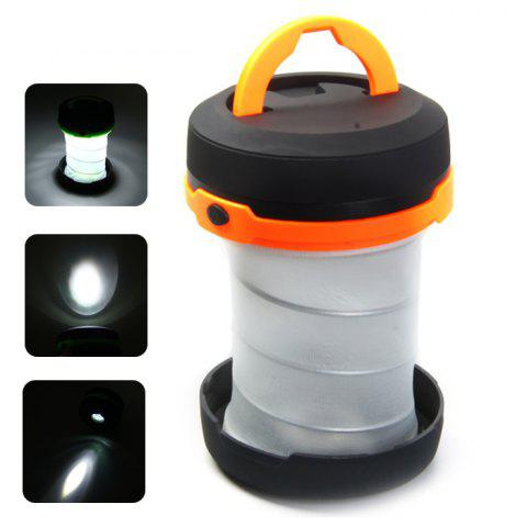 Portable Mini Outdoor Camping Tent Lantern Lamp Retractable Powered by 3pcs AA Batteries - ORANGE
