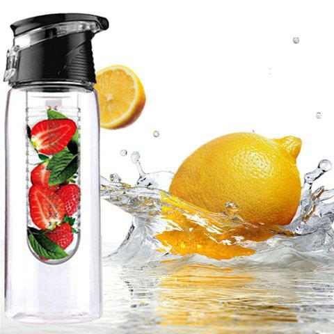 Durable Tritan Made Portable Outdoor Camping Cyclisme Fruit Juice / Water Drinking Bottle - 700ML - Noir