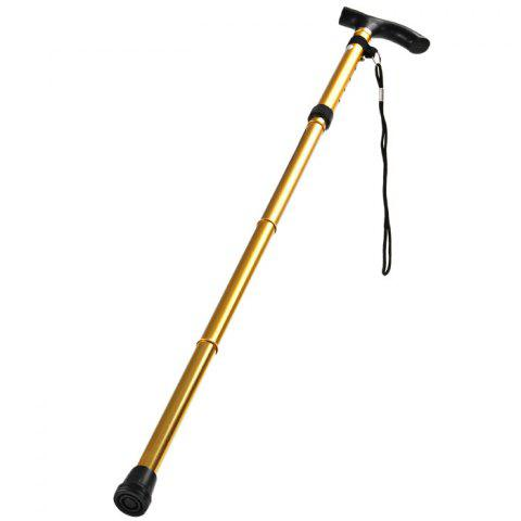 Foldable Ultralight Aluminum Alpenstock for Mountaineering - GOLDEN