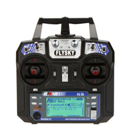 Refurbished Flysky FS - I6 2.4GHz 6CH Transmitter with LCD Display for RC Aircraft Models - BLACK
