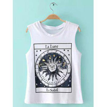 Casual Sleeveless Round Neck Geometric Print Women's T-Shirt