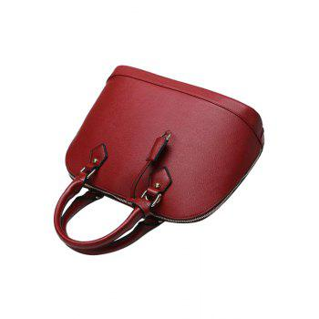 Simple Solid Color and Pendant Design Women's Tote Bag - WINE RED