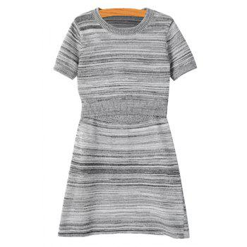 Stylish Short Sleeve Striped T-Shirt and A Line Skirt Women's Suit