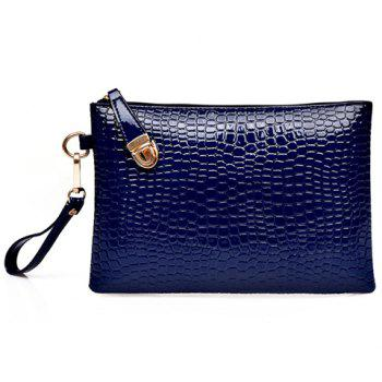 Crocodile Embossed Tote Handbag 6Pc Set -  DEEP BLUE