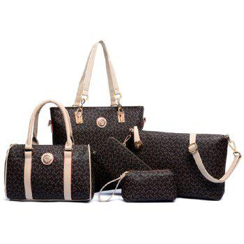 Elegant Arrow Print and PU Leather Design Shoulder Bag For Women