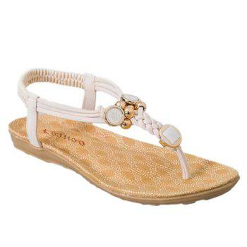 Simple Style Weaving and Metal Design Sandals For Women