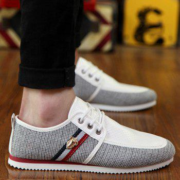 Stylish Style Splicing and Round Toe Design Men's Casual Shoes - 42 42