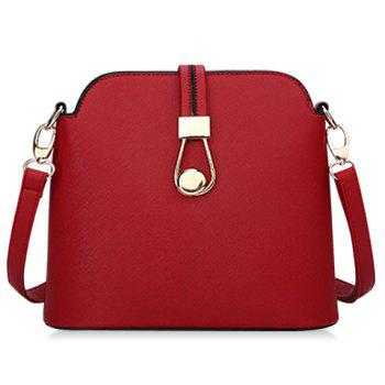 Simple Candy Color and Zipper Design Crossbody Bag For Women