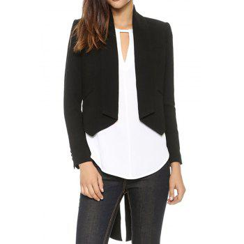 Elegant Style Asymmetrical Swallow-Tailed Long Sleeve Blazer For Women