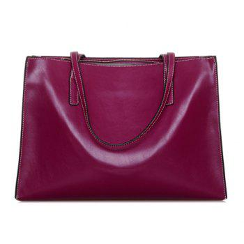 Simple Style Zipper and Capacious Design Women's Shoulder Bag