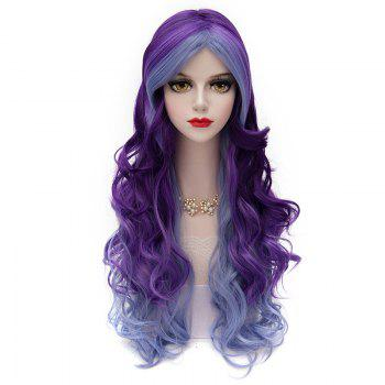 Fluffy Long Lolita Capless Two-Tone Gradient Middle Part Fashion Wave Synthetic Cosplay Wig