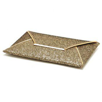 Gorgeous Sequined and Metallic Design Evening Bag For Women - GOLDEN