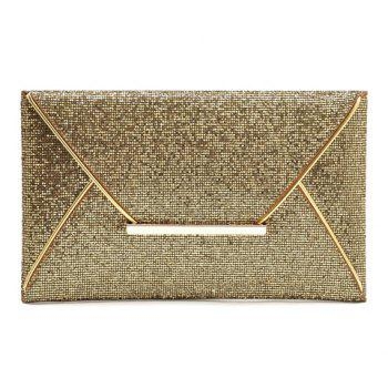 Gorgeous Sequined and Metallic Design Evening Bag For Women
