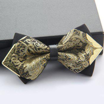 Stylish Alloy Embellished Various Pattern Double-Deck Men's Bow Tie - RANDOM COLOR PATTERN RANDOM COLOR PATTERN