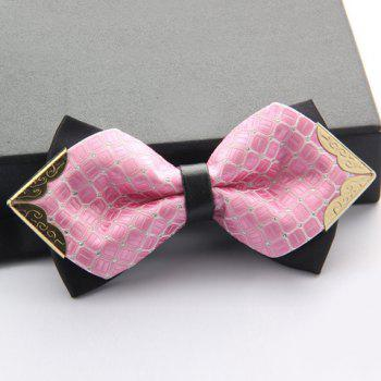 Stylish Alloy Embellished Various Pattern Double-Deck Men's Bow Tie -  RANDOM COLOR PATTERN