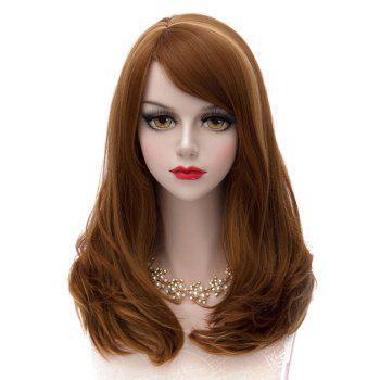 Heat Resistant Synthetic Stylish Capless Long Lolita Side Bang Fluffy Wavy Highlight Cosplay Women's Wig