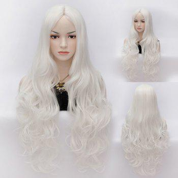 Sophisticated Long Stylish Wave Heat Resistant Synthetic Women's Capless Wig
