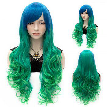Fashion Cosplay Lolita Long Capless Wavy Side Bang Ombre Heat Resistant Synthetic Women's Wig