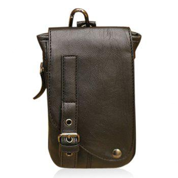 Fashionable Buckle and Rivet Design Messenger Bag For Men - BLACK BLACK