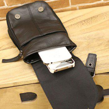 Fashionable Buckle and Rivet Design Messenger Bag For Men -  BLACK