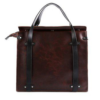 Trendy Rivets and Magnetic Closure Design Briefcase For Men